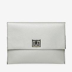 Dorothy Perkins Silver Twistlock Chain Clutch Bag