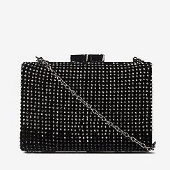 Dorothy Perkins - Black stone detail box clutch