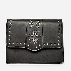 Dorothy Perkins Black Embellished Cross Body Bag