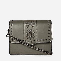 Dorothy Perkins Grey Embellished Cross Body Bag