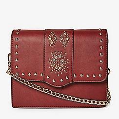 Dorothy Perkins Burgundy Embellished Cross Body Bag
