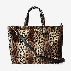 Dorothy Perkins Leopard Print Faux Fur Per Bag