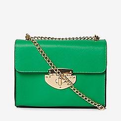 Dorothy Perkins - Green lock chain cross body bag