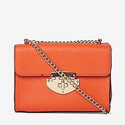 Dorothy Perkins - Orange lock chain cross body bag