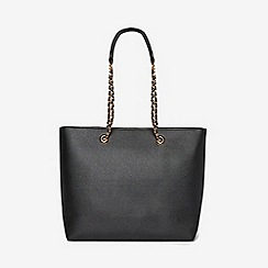 Dorothy Perkins - Black chain handle shopper bag