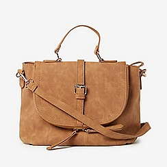 Dorothy Perkins - Tan Casual Buckle Cross Body Bag