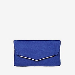 Dorothy Perkins - Cobalt metal bar clutch bag