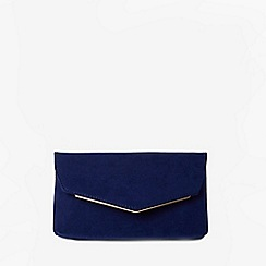 Dorothy Perkins - Navy metal bar clutch bag