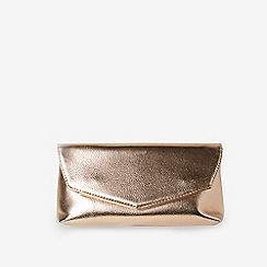Dorothy Perkins - Rose Gold Metal Bar Clutch Bag