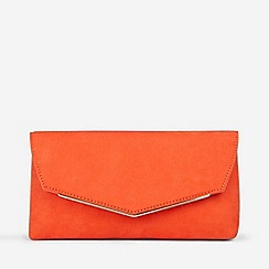 Dorothy Perkins - Orange Metal Bar Clutch Bag
