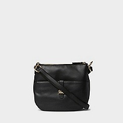 Dorothy Perkins - Black double bar messenger bag 93a03e3ea7