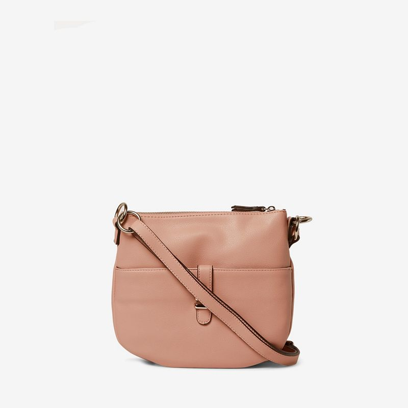 Dorothy Perkins - Blush Double Bar Messenger Bag