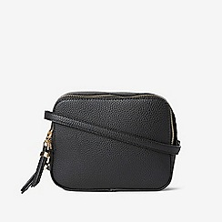 Dorothy Perkins - Black Double Zip Cross Body Bag 89aebf2e50b5b