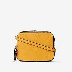 Dorothy Perkins - Mustard Double Zip Cross Body Bag