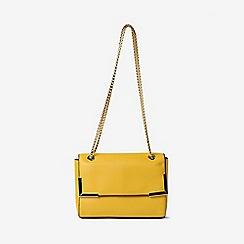 Dorothy Perkins - Mustard Metal Corner Cross Body Bag