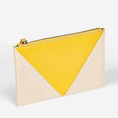 Dorothy Perkins - Yellow Panel Wristlet Clutch Bag