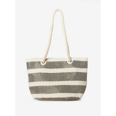 6d8e2f3dd0e Dorothy Perkins Monochrome Rope Handle Beach Bag | Debenhams