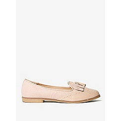 Dorothy Perkins - Nude libby loafers