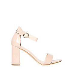 Dorothy Perkins - Nude shimmy block heel sandals