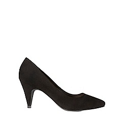 Dorothy Perkins - Black 'diana' almond toe court shoes