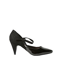 Dorothy Perkins - Black daisy court shoes