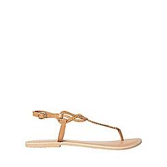 Dorothy Perkins - Tan leather farah sandals