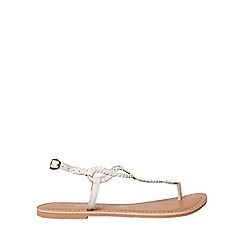 Dorothy Perkins - Leather white fallon sandals