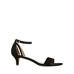 Dorothy Perkins - Black 'sunrise' kitten heeled sandals