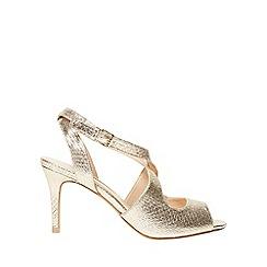 Dorothy Perkins - Gold blaze peep toe sandals