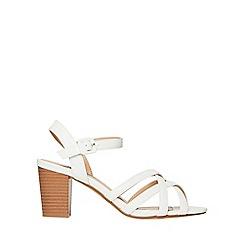 Dorothy Perkins - White sandy heeled sandals