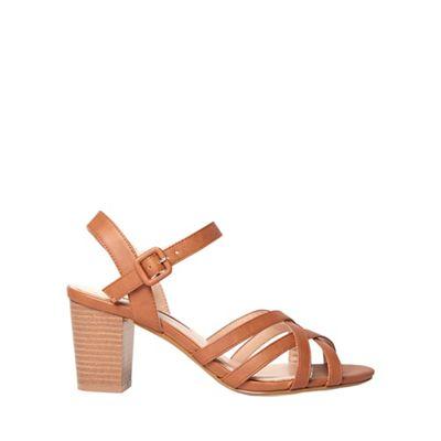 Dorothy Perkins - Tan sandy heeled sandals