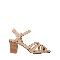 Dorothy Perkins - Nude sandy cross over sandals