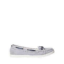 Dorothy Perkins - Blue striped loat loafers