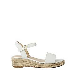 Dorothy Perkins - White pu riana wedge sandals