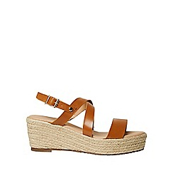 Dorothy Perkins - Tan reese cross over wedge sandals