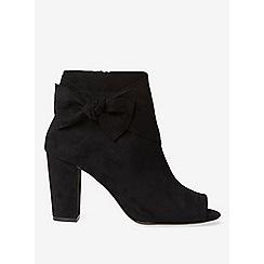 Dorothy Perkins - Black sammia peep toe ankle boots