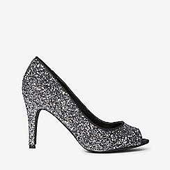 Dorothy Perkins - Pewter glitter clover court shoes