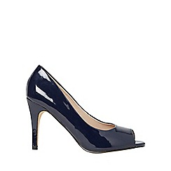 Dorothy Perkins - Navy patent clover court shoes