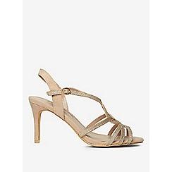 Dorothy Perkins - Nude bounty glitter heels sandals