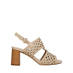 Dorothy Perkins - Nude sammy woven sandals