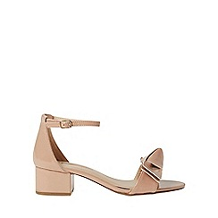 Dorothy Perkins - Nude shelly bow heeled sandals