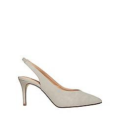 Dorothy Perkins - Grey essie 80s slingback court shoes