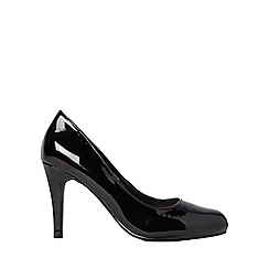 Dorothy Perkins - Black patent dallas court shoes