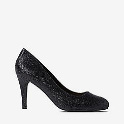 Dorothy Perkins - Black glitter dallas court shoes