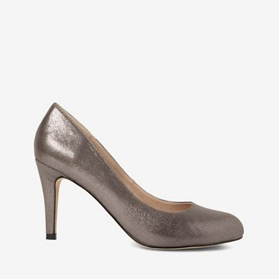Dorothy Perkins   Grey Pewter Dallas Court Shoes by Dorothy Perkins