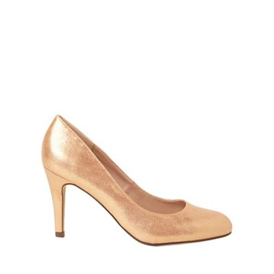 Dorothy Perkins - Pink dallas metallic court shoes