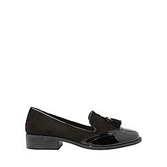 Dorothy Perkins - Black patent libra loafers