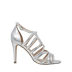 Dorothy Perkins - Silver blossom caged heeled sandals