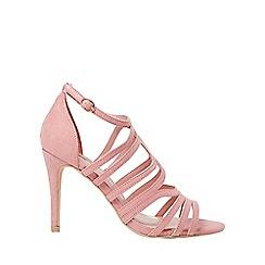 Dorothy Perkins - Rose microfibre blossom caged heeled sandals