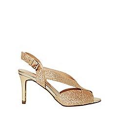 Dorothy Perkins - Gold britney heeled sandals